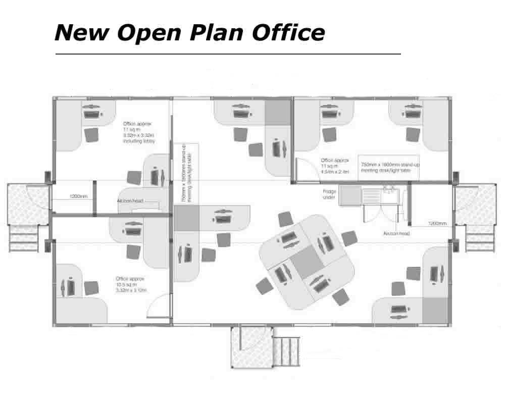 Open Plan Office Layout Group Tag House Plans 85737