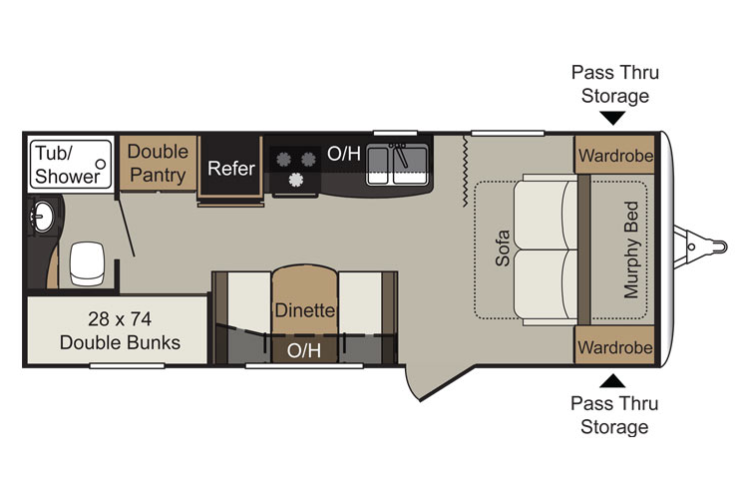 Passport Express Floor Plan Travel Trailer House Plans 57629