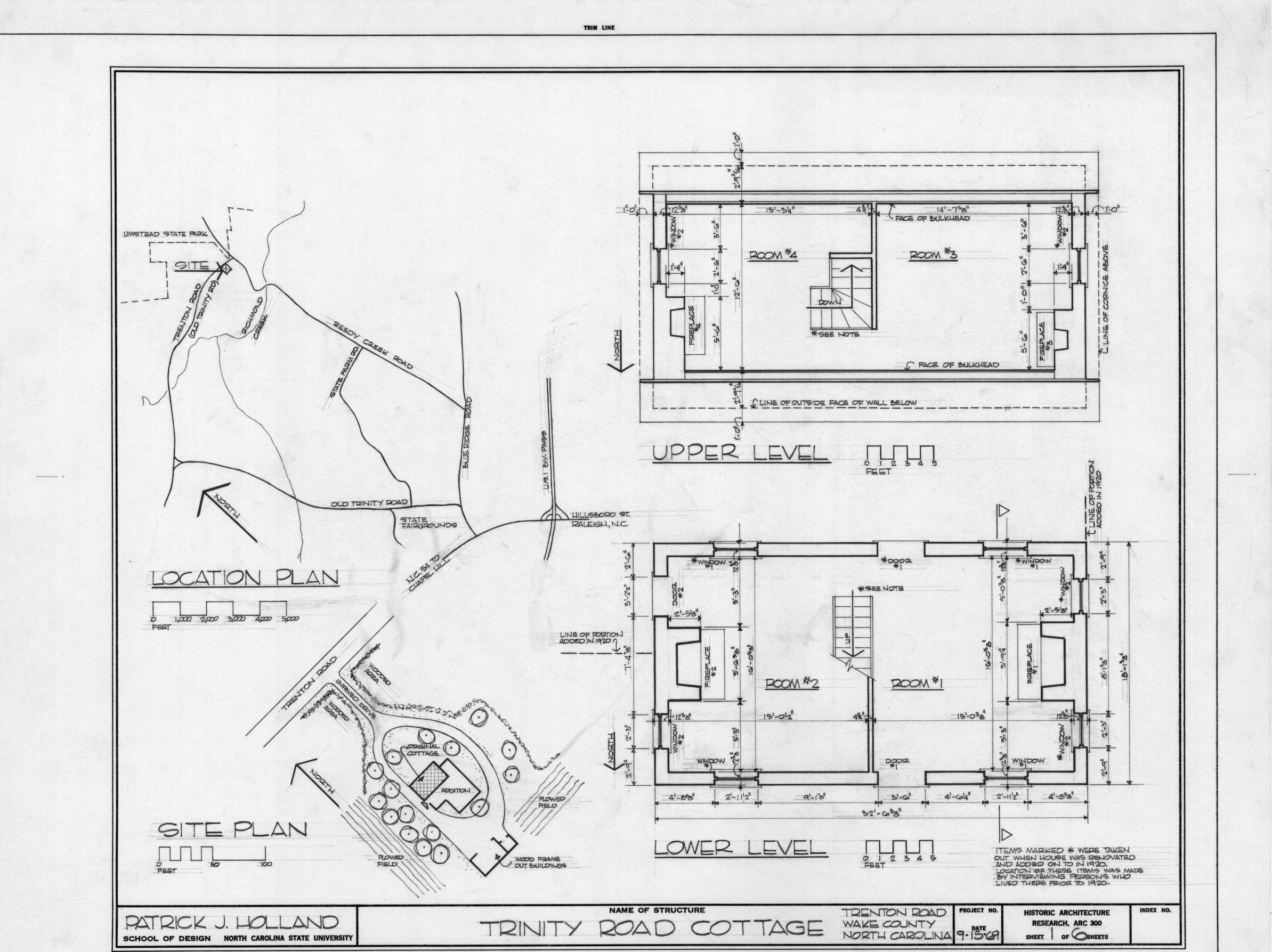 Plan floor plans trinity house wake county north carolina Home site plan