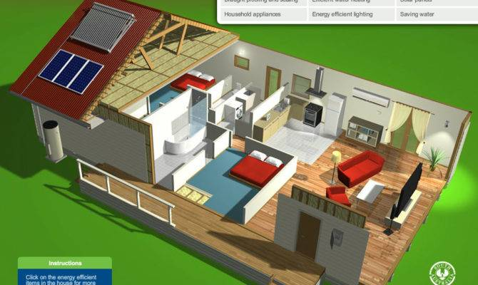 Please Note Interactive Energy Efficient House Requires Adobe
