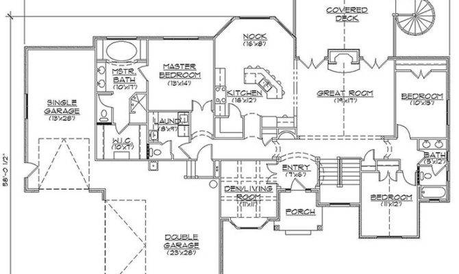 Awesome Rambler House Plans With Basement Pictures House Plans