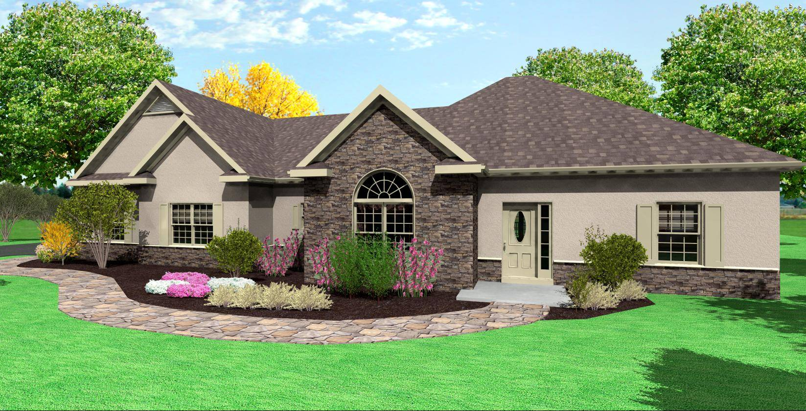 anch Home Plans Side Garage ottage House - House Plans #20093 - ^