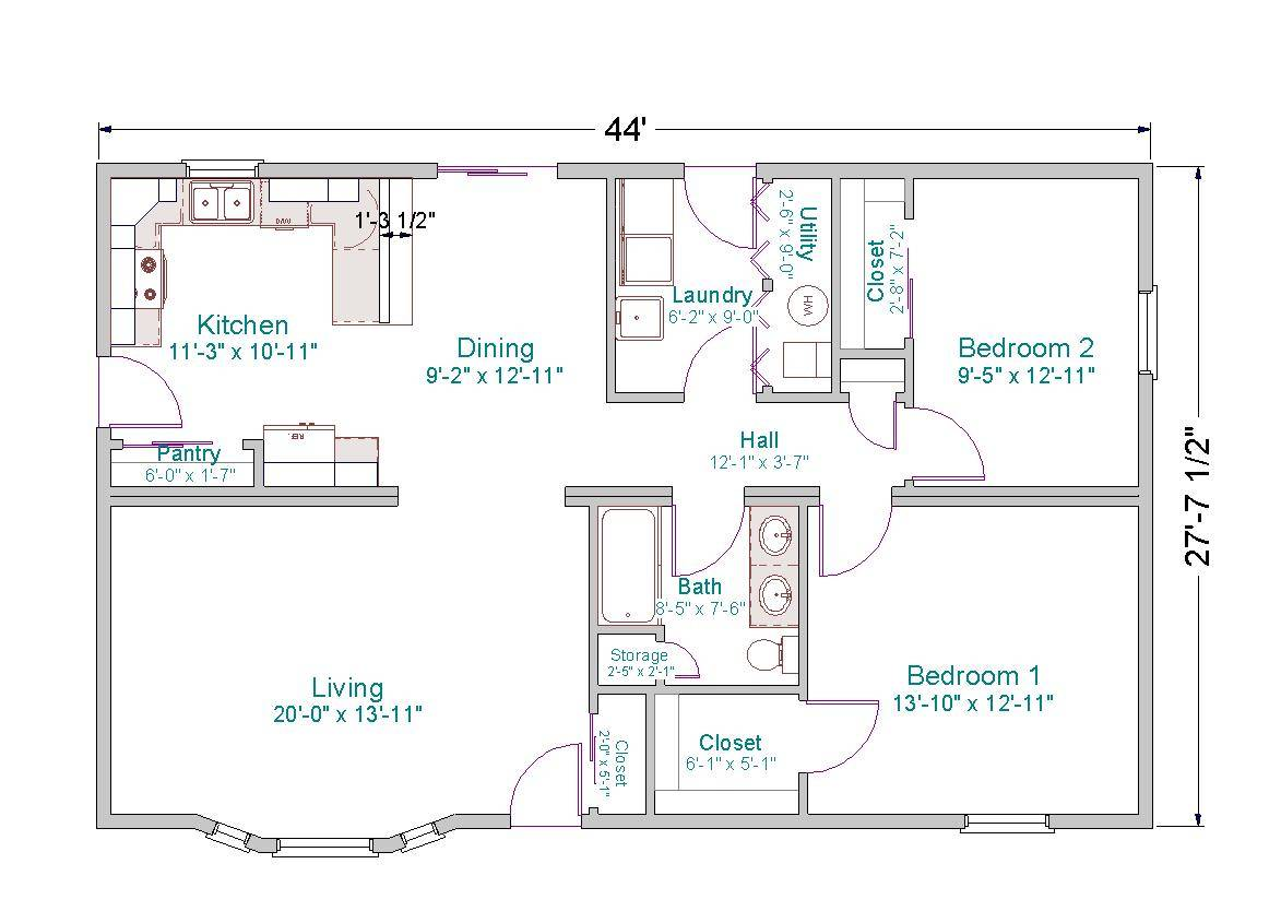 ... House Plans 3 Bedroom as well 4 Bedroom Single Storey House Plans In