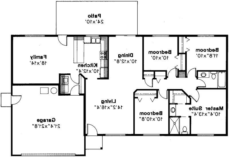 Rectangle House Plans rectangular house plans level 1 Ranch House Plans Weston Associated Designs_54023 Elliptical Shaped House Plans 2 On Elliptical Shaped House Plans