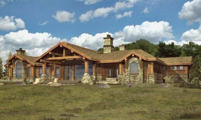 Top 26 Photos Ideas For Ranch Style Log Home Floor Plans