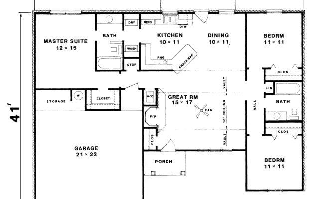 Best Of 28 Images Basic Ranch House Plans House Plans 40387