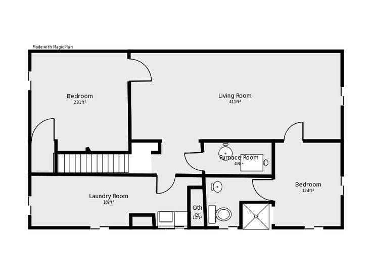 Remodels Pinterest Basement Floor Plans Basements House Plans