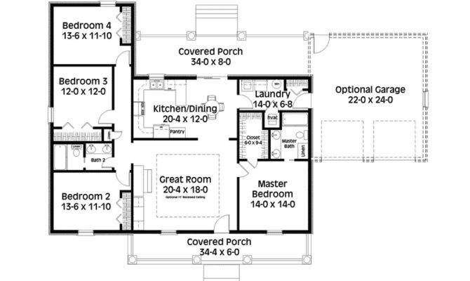 Saltbox country house plans