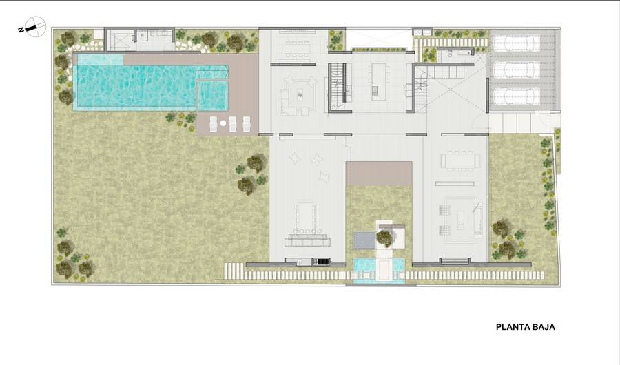 U Shaped Courtyard House Plans With Covered Pool U Free