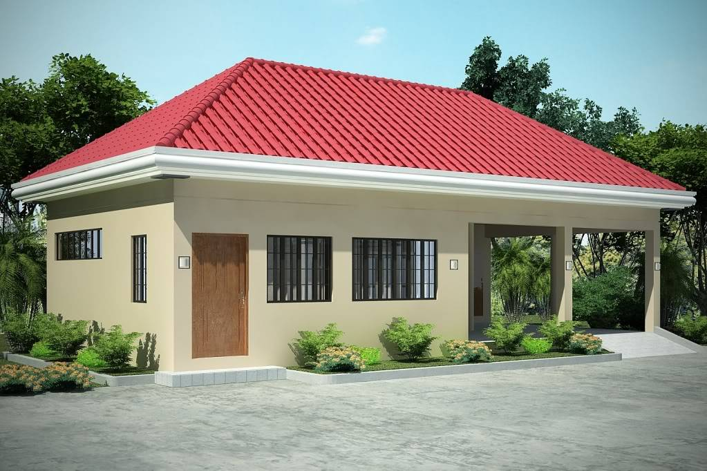 Zen style bedrooms Simple bungalow house design in the philippines