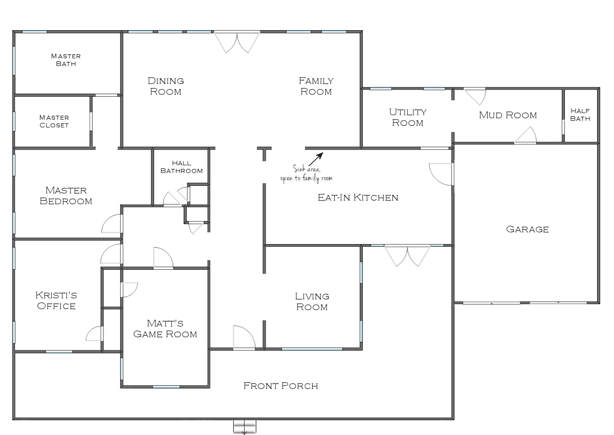 Simple House Floor Plans House Floor Plan With Interesting