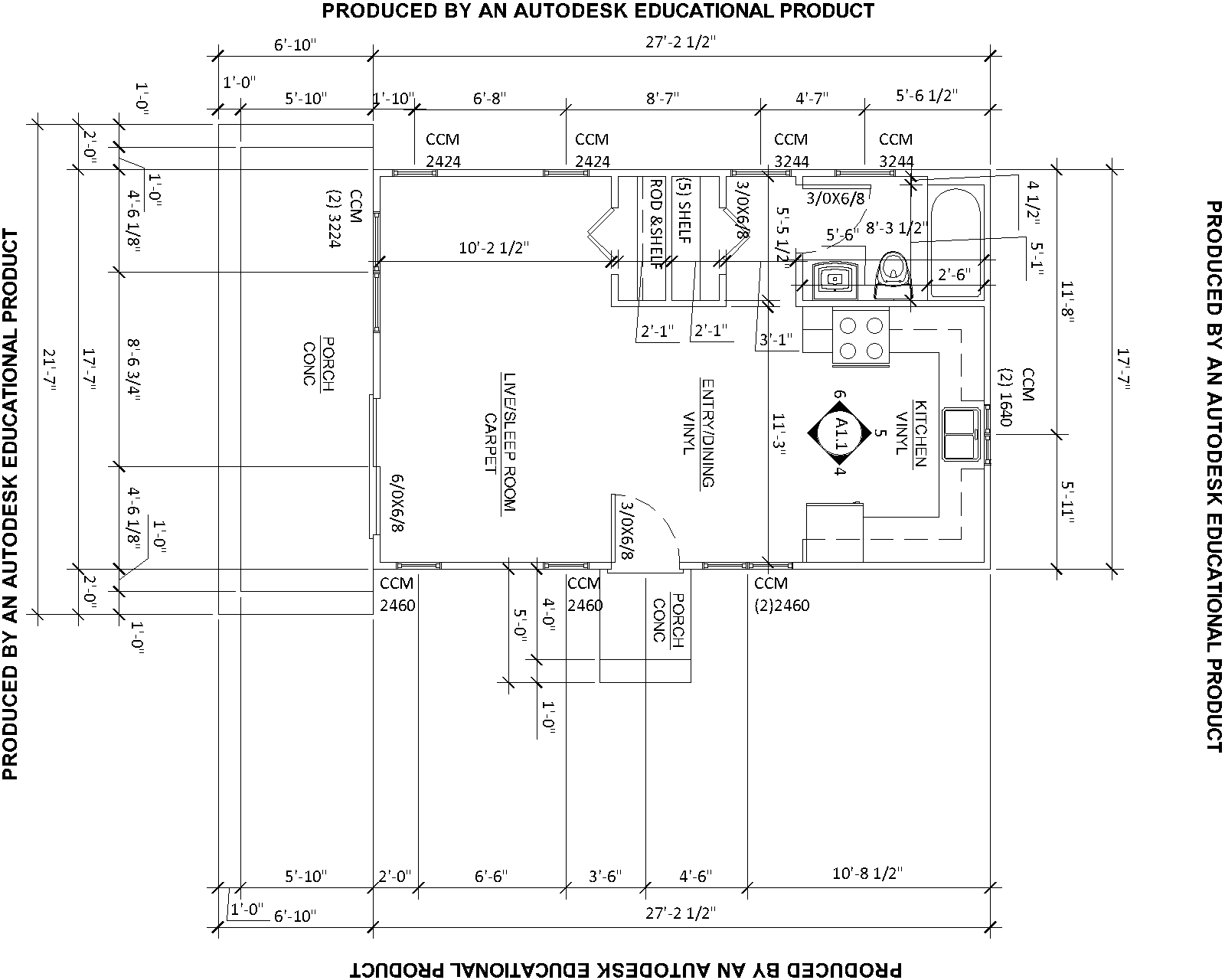 Dimensioned House Plans House Plans