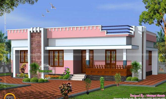 simple small flat roof home kerala design floor plans_484986 670x400 small modern flat roof house plans house and home design,Small Modern House Plans Flat Roof