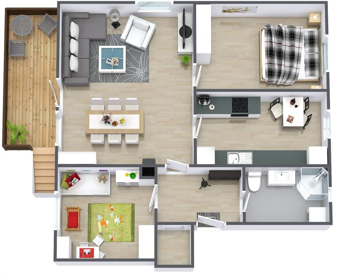 Simple Two Bedroom House Plan Interior Design Ideas House Plans