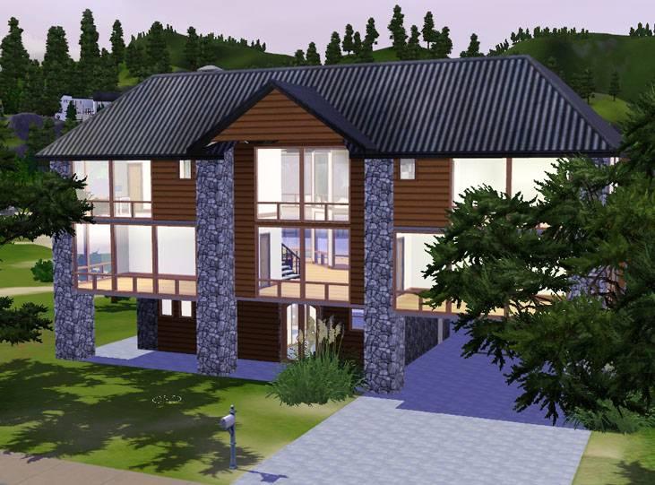 Sims Beautiful Vista Contemporary Wood Stone Bedroom House. Sims Beautiful Vista Contemporary Wood Stone Bedroom House   House