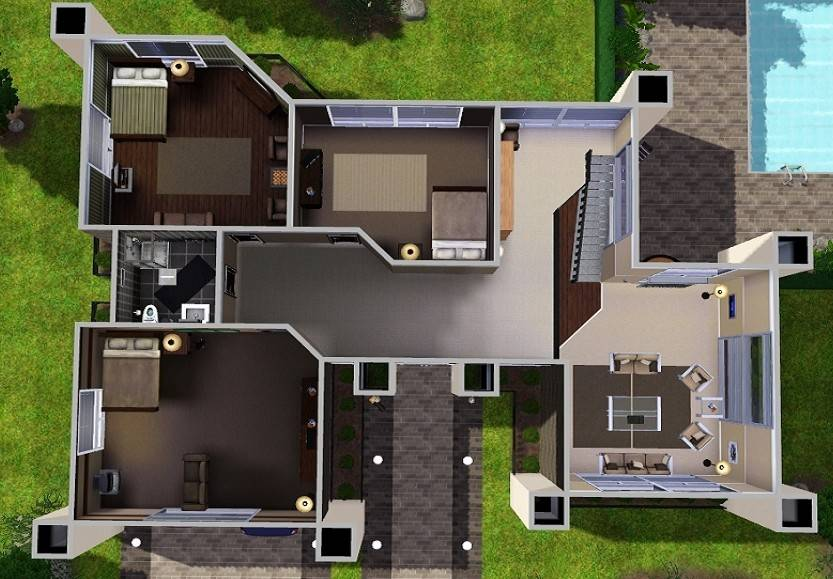 Sims 3 building a modern house tutorial House and home design