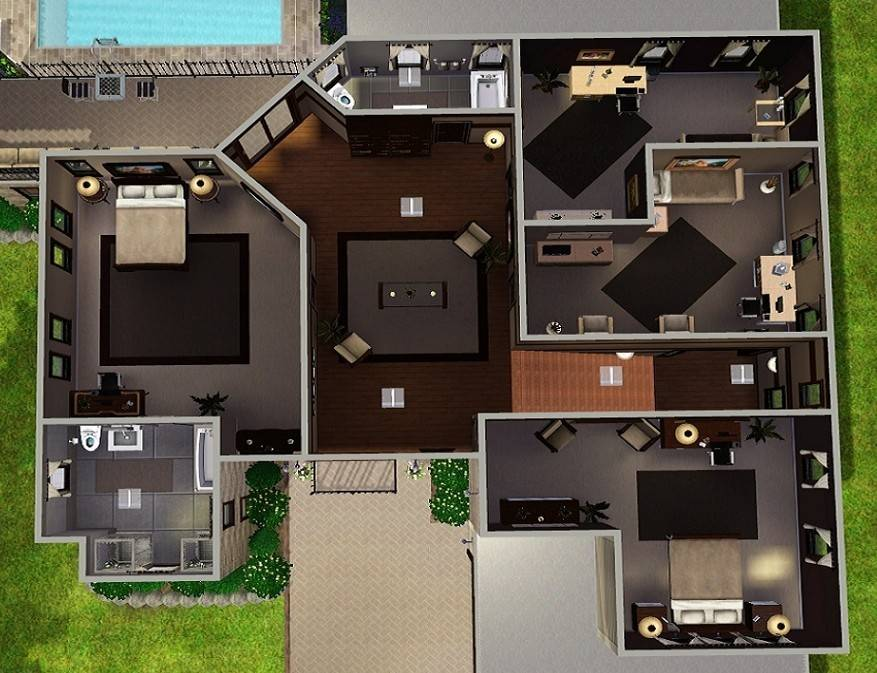24 Stunning Sims 3 Mansion House Plans House Plans 19721 On Mansion Floor  Plans Sims 3