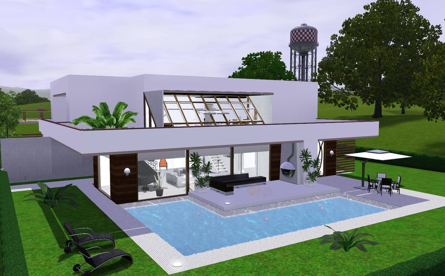 simple modern house the sims 3 Modern House