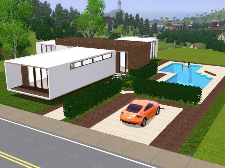 My sims 3 modern house House and home design