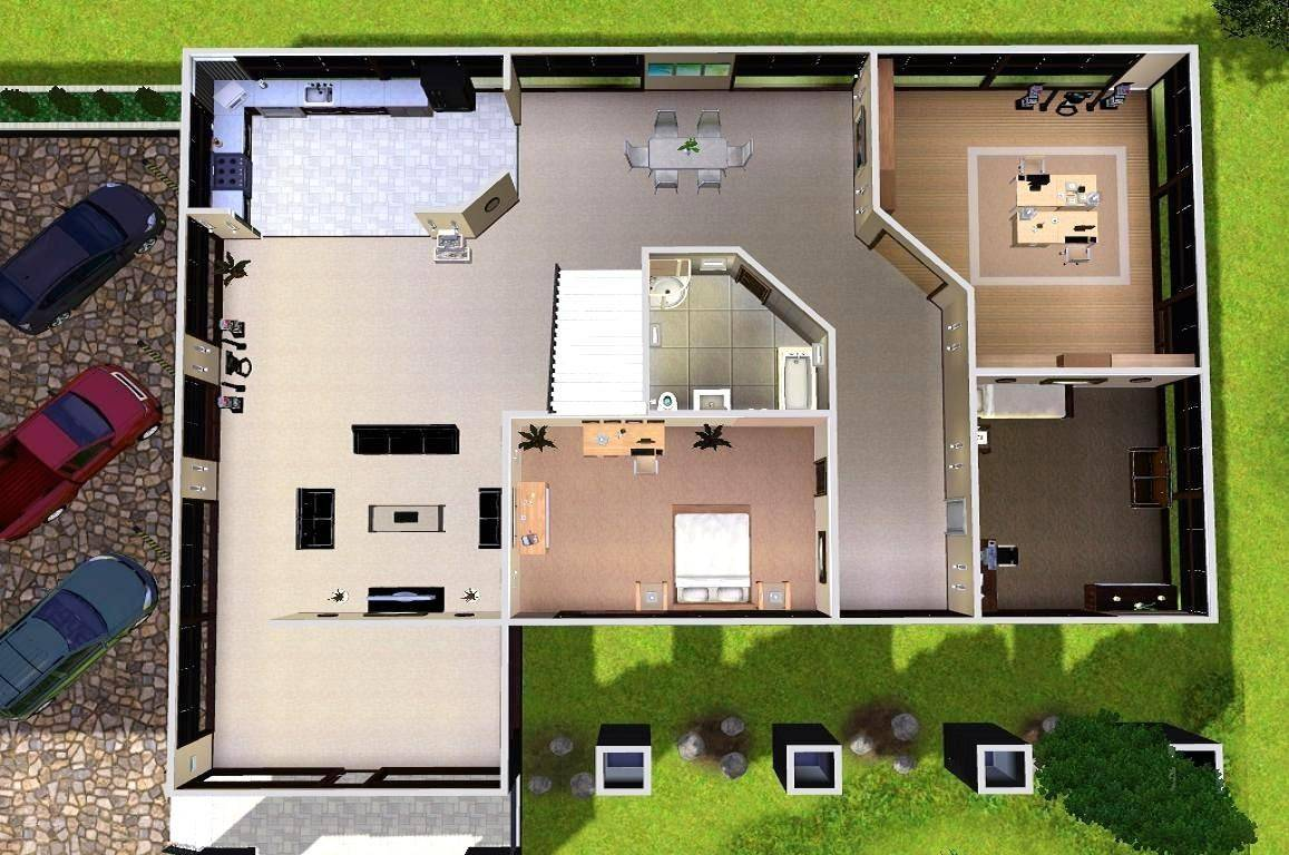 Sims modern house floor plans mod estate