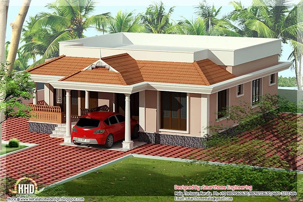 Single Floor Home Front Design Htjvj. Contemporary Single Floor   House Plans    77995