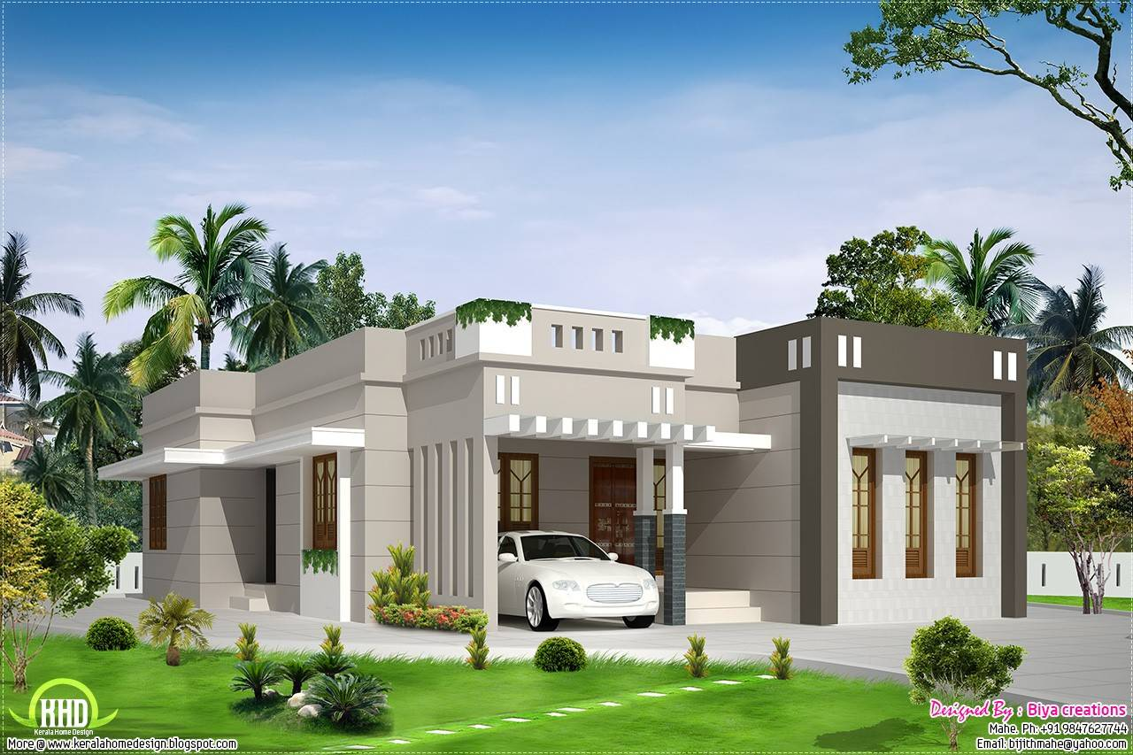 ^ Single Story Modern House Plans Small - House Plans #53615
