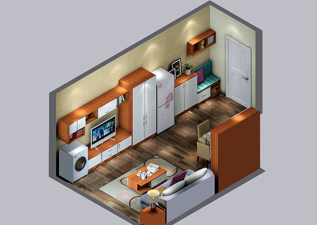 Layout for a small house
