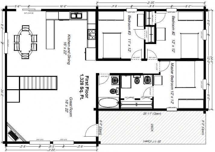 Small Log Cabins Floor Plans Design Cabin Homes House