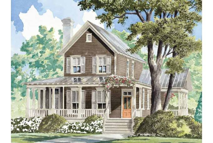 Outstanding Farmhouse House Plan Windsong Cottage Southern Living House Largest Home Design Picture Inspirations Pitcheantrous