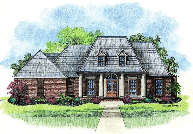 springfield country french home plans louisiana house - house