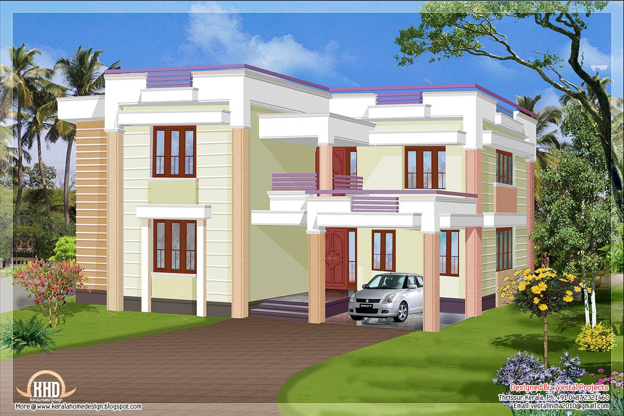 Simple Flat Roof House Plans House And Home Design