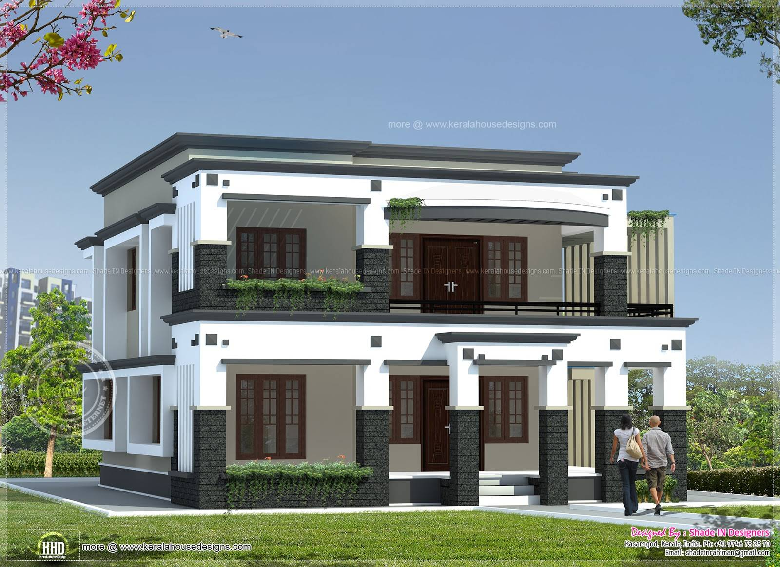 Square Meter Flat oof House Kerala Home Design Floor Plans ... - ^