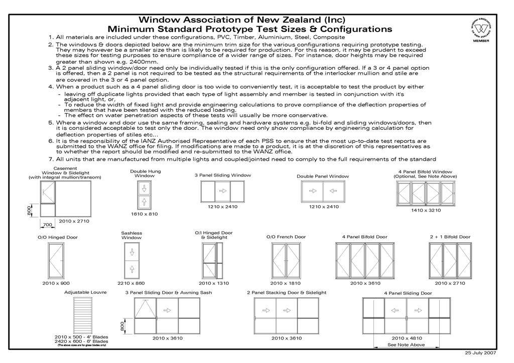 Standard House Window Sizes - House Plans | #2431
