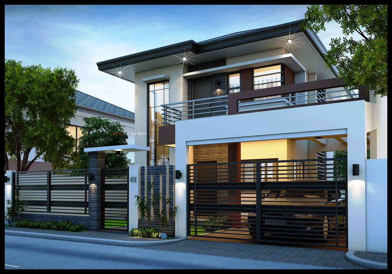 2 storey modern house designs