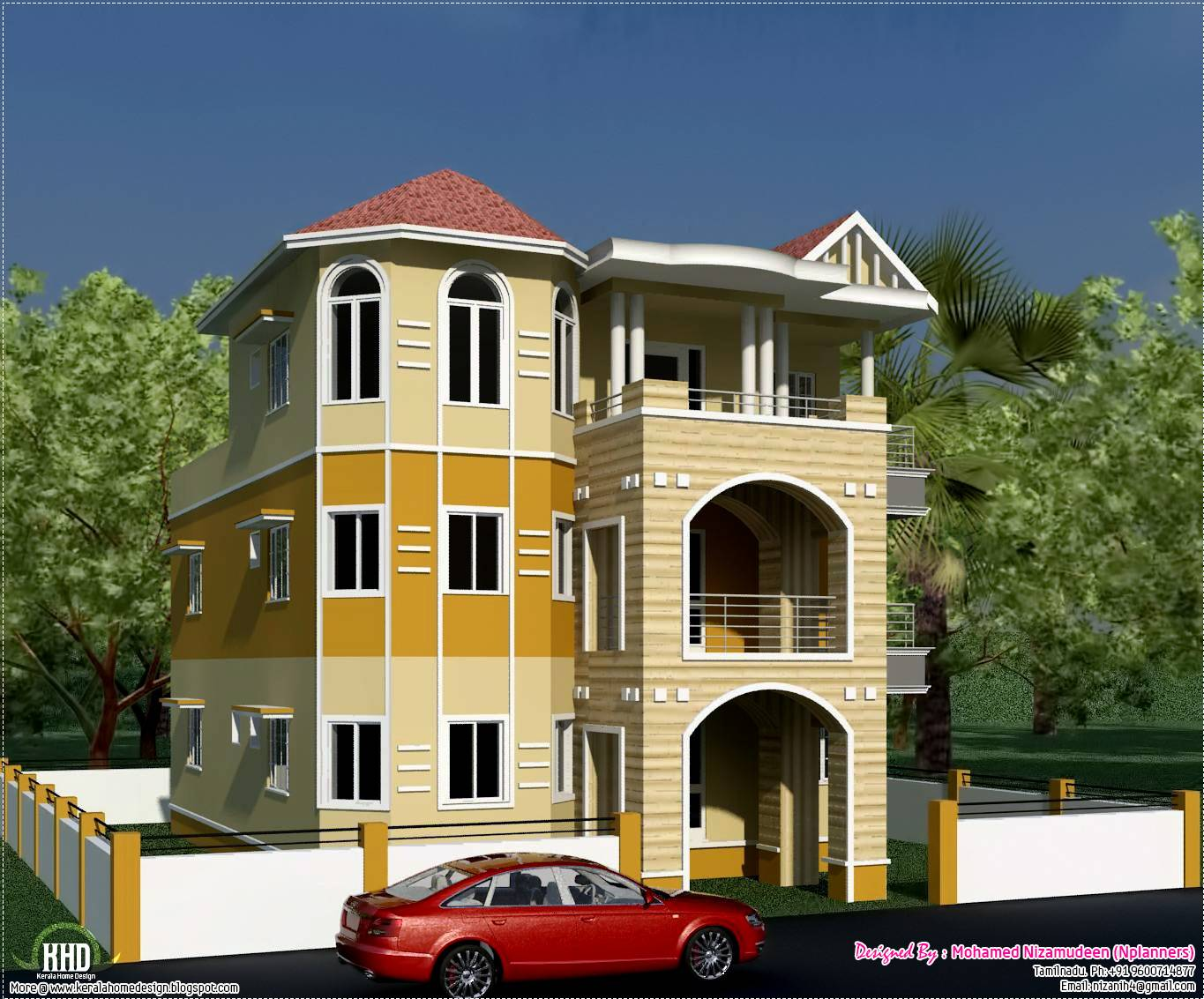 Three storey house design