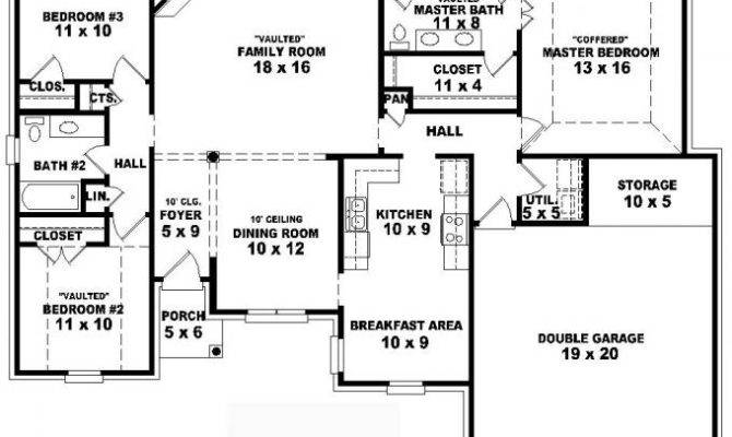 17 top photos ideas for four bedroom house plans one story