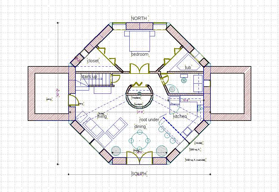 octagon house plans home - house plans