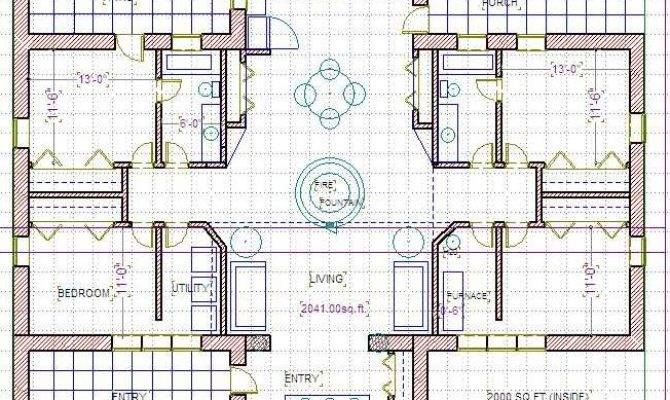 Straw Bale House Plans Courtyard Straw Free Printable Images