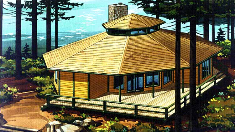 Stickysyrup Three Story Modern Octagon House House Plans 29861