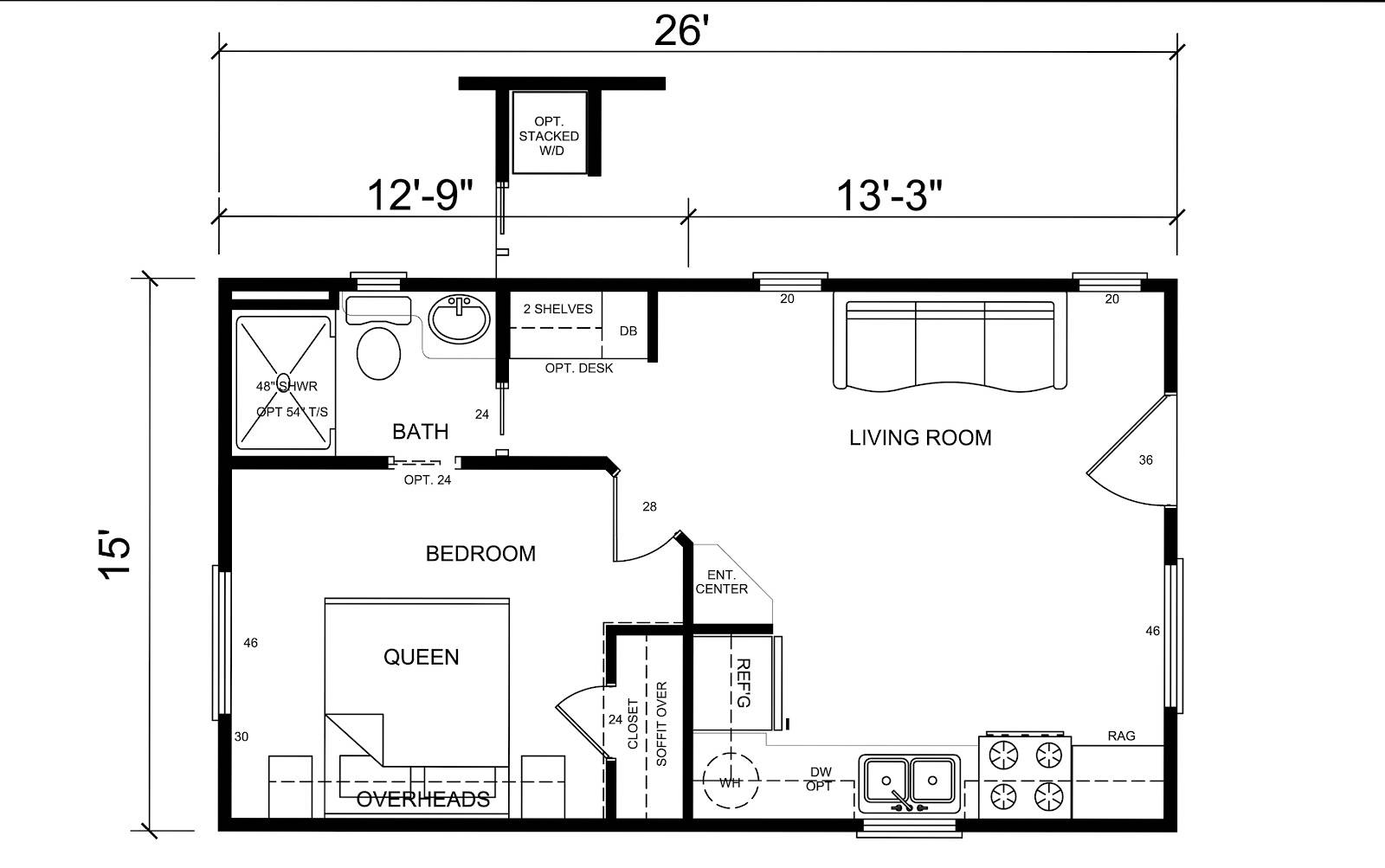 Tiny house floor planshouse plans80089