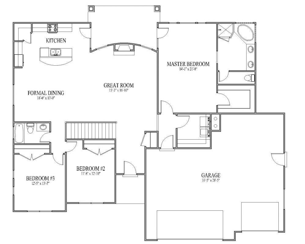 Traditional Open Floor House Plans Traditional Free Printable