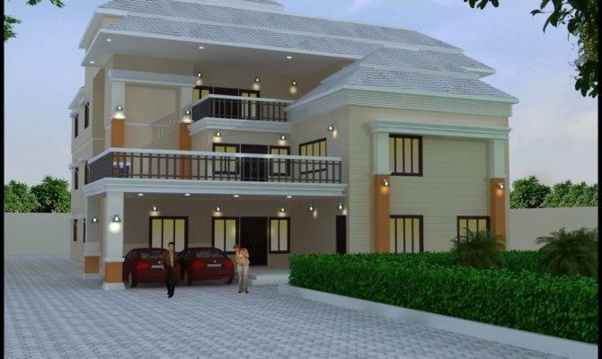 Triplex model house