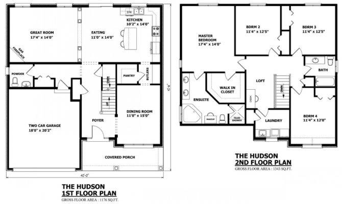 Two Story House Floor Plan Designs 92537 670x400 Custom Home Plans Ontario 8 On Custom Home Plans