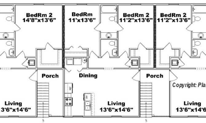 Multi Unit Plans Ideas House Plans 50142