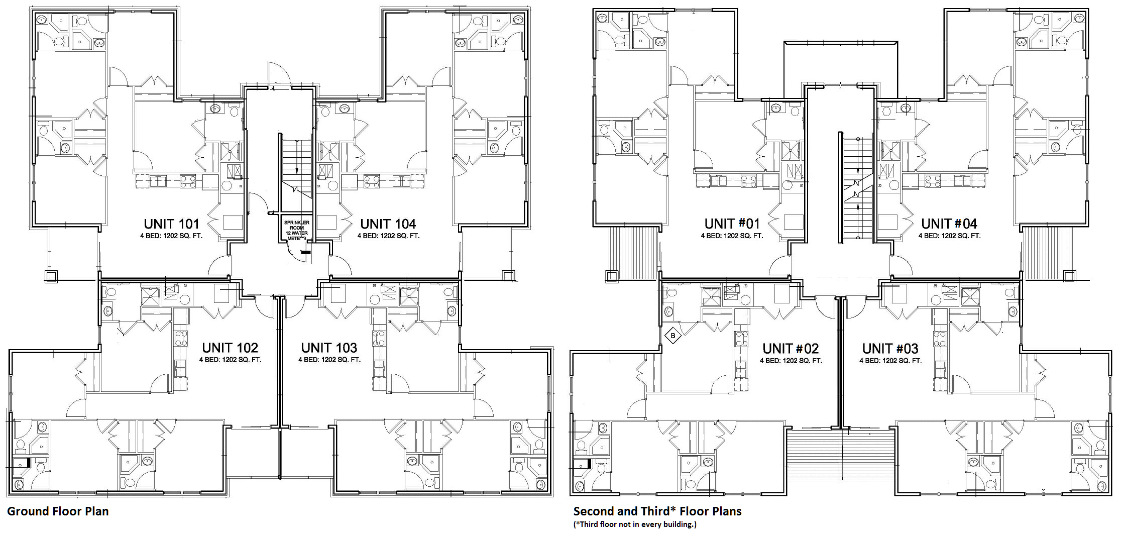 Unit Apartment Plans Related Keywords Suggestions 736269 Four Unit Apartment Building Plans Theapartment On 3 Unit House