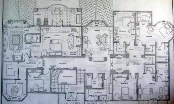 Upper Level Floor Plan Spanish Colonial Residence Greta