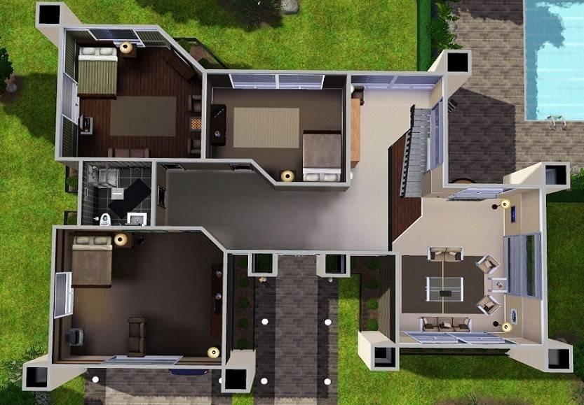 The Sims 3 Modern House Building Tips House Modern - sims 4 house design tips