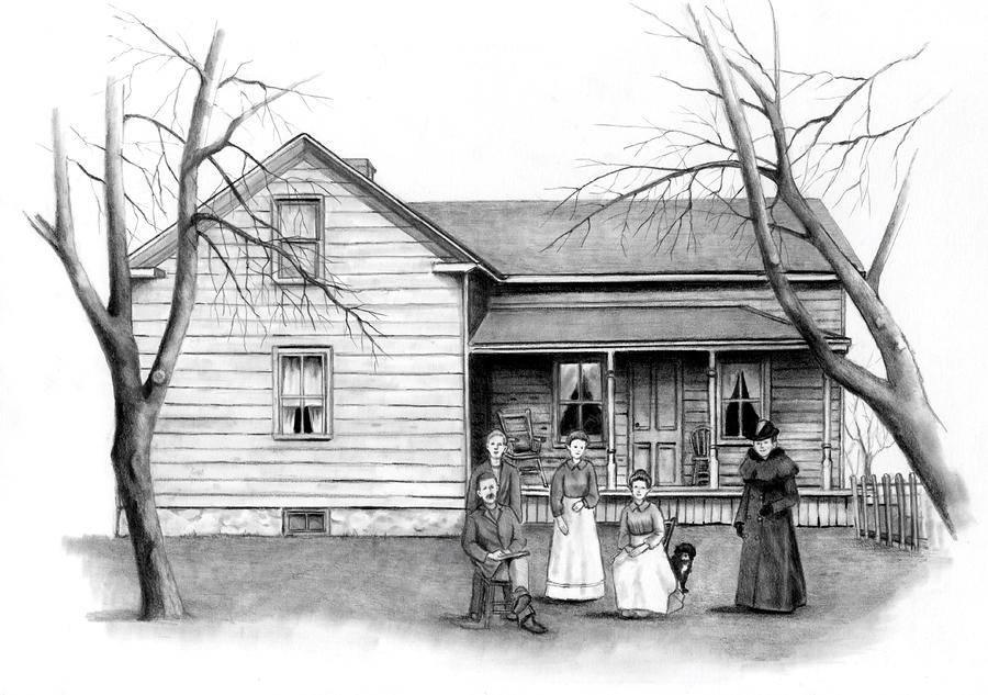 pleasing vintage farm house drawing joyce geleynse which house plans 51946 free home designs photos ideas