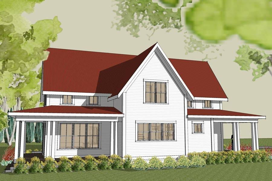 White Farmhouse Plans Latest Love The Brick Walls With White