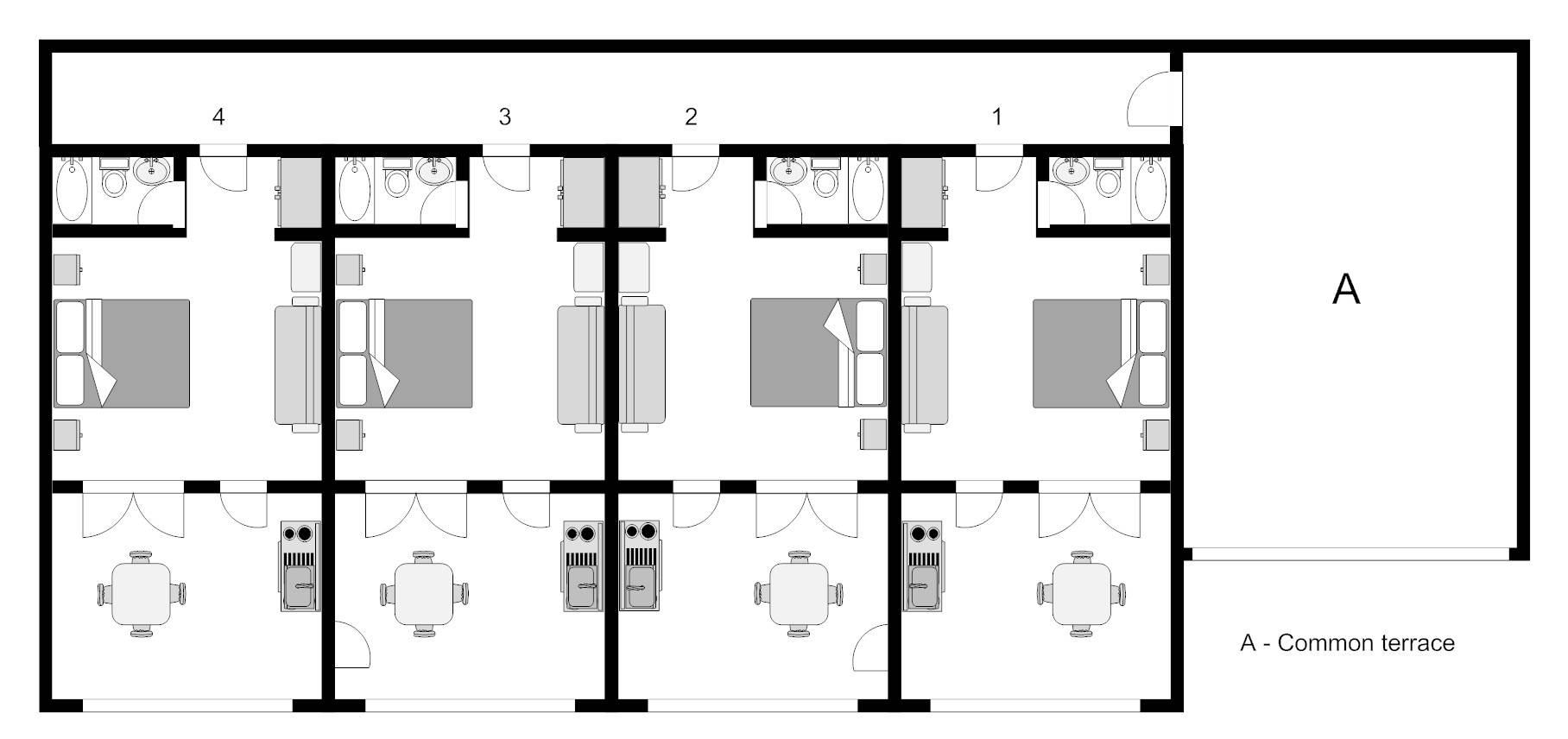 100 apartment complex floor plans gables emory point for Apartment blueprint maker